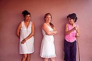 Three women in Gibara, Holguin, Cuba.