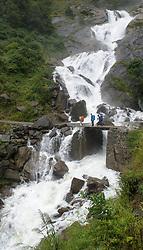 THEMENBILD - Trekkingtour in Nepal um die Annapurna Gebirgskette im Himalaya Gebirge. Das Bild wurde im Zuge einer 210 Kilometer langen Wanderung im Annapurna Gebiet zwischen 01. September 2012 und 15. September 2012 aufgenommen. im Bild Wasserfall // THEME IMAGE FEATURE - Trekking in Nepal around Annapurna massif at himalaya mountain range. The image was taken between september 1. 2012 and september 15. 2012. Picture shows Waterfall, NEP, EXPA Pictures © 2012, PhotoCredit: EXPA/ M. Gruber