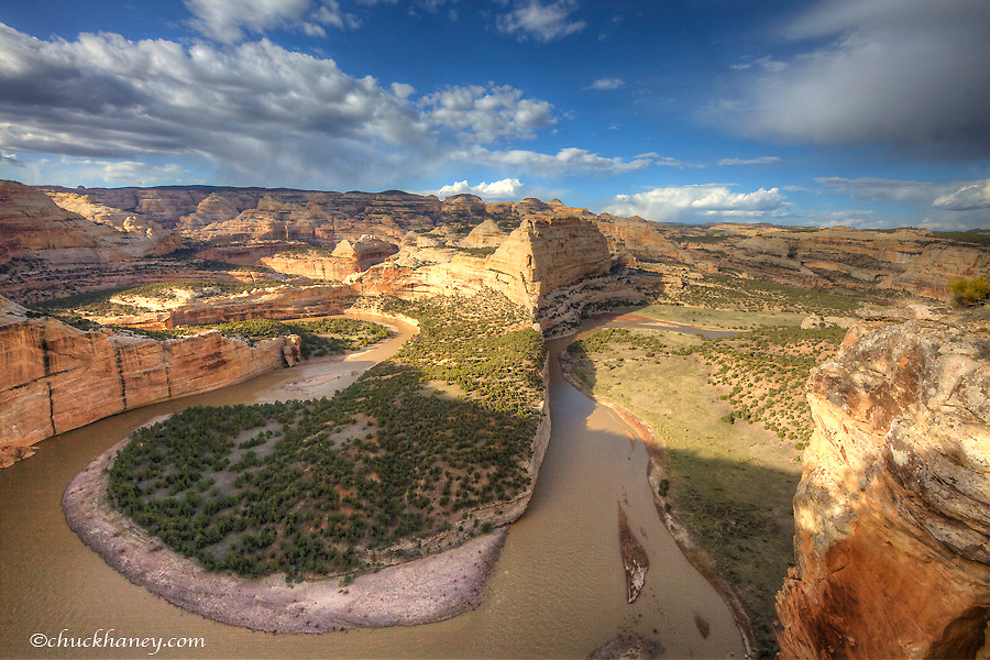 The Yampa River at Harding Hole Overlook in Dinosaur National Monument, Colorado, USA