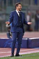 Eusebio Di Francesco, Roma coach.<br /> Roma 01-10-2018 Stadio Olimpico<br /> Football Calcio UEFA Champions League 2018/2019 <br /> AS Roma - FC Viktoria Plzen<br /> Foto Antonietta Baldassarre / Insidefoto