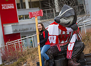 """The """"Well Red"""" statue at Alumni Park. (Photo © Andy Manis)"""