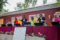The Nisky Moravian Church Handbell Choir perform Carol of the Bells.   Christmas Tree Lighting and Seasonal Fundraiser for the Humane Society of St. Thomas.  St. Thomas, USVI.  11 De© Aisha-Zakiya Boyd