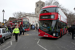 © licensed to London News Pictures. London, UK 27/02/2012. London's newly designed hop-on, hop-off double decker bus services begin today 27th February 2012 as the first bus leaves Hackney Bus Garage this morning. Photo credit: Tolga Akmen/LNP