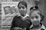 These children represent a generation who was born and grew up during the last communist revolution the world has seen. Nepal, 2008.