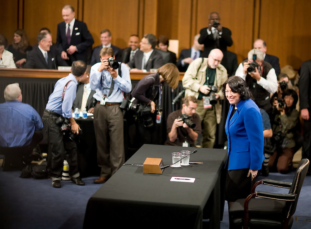 Supreme Court Nominee Sonya Sotomayor is sworn in to the Senate Judiciary Committee on Monday, July 13, 2009 in Washington.