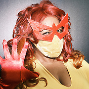 Jamila Howard dressed as Firestar at the 2021 New York Comic Con at the Javits Center in Manhattan, New York on Thursday, October 7, 2021. John Taggart for The New York Times