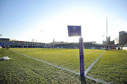 A general view of the Recreation Ground pitch - Mandatory byline: Patrick Khachfe/JMP - 07966 386802 - 21/01/2017 - RUGBY UNION - The Recreation Ground - Bath, England - Bath Rugby v Pau (Section Paloise) - European Rugby Challenge Cup.