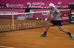 May 4, 2018 - Lisbon, Portugal - Simone Bolelli in action during the Millennium Estoril Open tennis tournament in Estoril, outskirts of Lisbon, Portugal on May 4, 2018  (Credit Image: © Carlos Costa/NurPhoto via ZUMA Press)