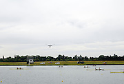 UK, August 1 2012: Helen Glover and Heather Stanning, Team GB, lead the race during the London 2012 Olympics Women's Pairs Rowing Final at the 1250m mark on the course at Eton Dorney.  Copyright 2012 Peter Horrell.