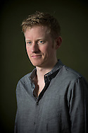 Young Irish writer Colin Barrett, pictured at the Edinburgh International Book Festival where he talked about his new novel entitled 'Young Skins'. The three-week event is the world's biggest literary festival and is held during the annual Edinburgh Festival. The 2014 event featured talks and presentations by more than 500 authors from around the world and was the 31st edition of the festival.