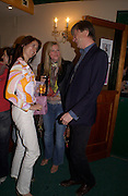Kristiane Backer, Lynne Hunt and the Marquess of Worcester, Planet Potato, Bush Hall, 310 Uxbridge Rd. 17 June 2004. ONE TIME USE ONLY - DO NOT ARCHIVE  © Copyright Photograph by Dafydd Jones 66 Stockwell Park Rd. London SW9 0DA Tel 020 7733 0108 www.dafjones.com