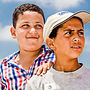 Ashraf and Hasan from the village of Borg-Meghezil contemplate their futures.