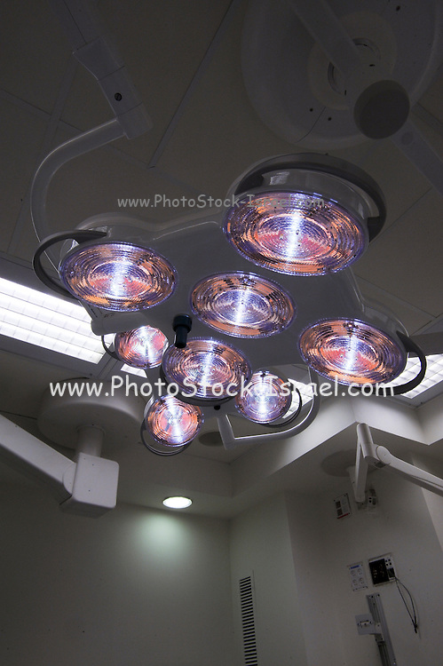 The lights in a Hospital Operating theatre