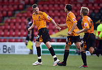 Photo: Rich Eaton.<br /> <br /> Crewe Alexandra v Hull City. Carling Cup. 15/08/2007. Hull's Michael Bridges (l) fails to score from the spot in the first half but scores from the rebound and celebrates with teammates.