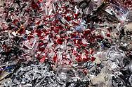 Shredded plastics ready to be recycled, Minh Khai village, Hung Yen Province, Vietnam, Southeast Asia