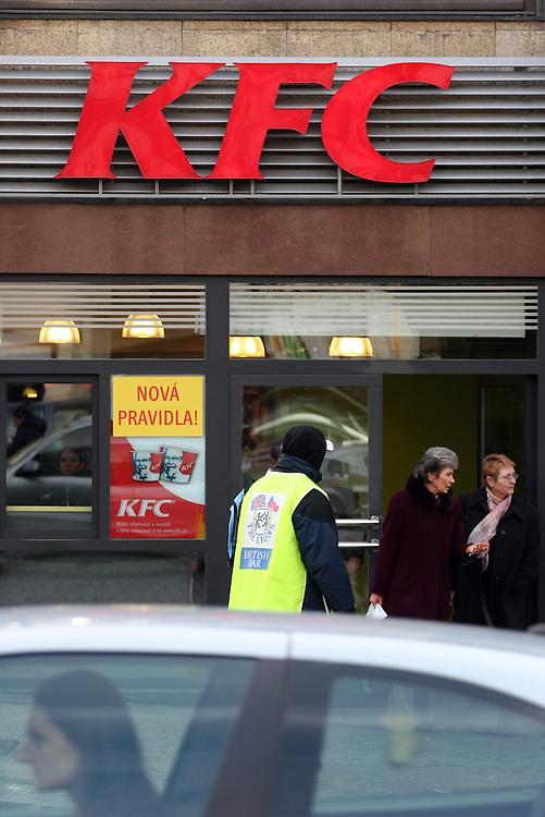 Kentucky Fried Chicken (KFC) branch located at the Prague Wenceslas Square.