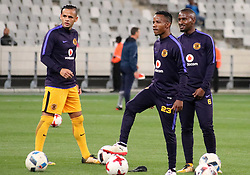 Gustavo Paez, Joseph Molangoane and Bongolethu Jayiya in the Absa Premiership match between Cape Town City and Kaizer Chiefs, Cape Town Stadium, 13 September 2017.
