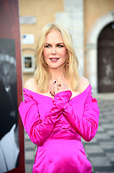 Nicole Kidman attends the red carpet during 65th Taormina Film Festival and attaches a lock on the fence of taormina square and then admires the view. 01 Jul 2019 Pictured: Nicole Kidman. Photo credit: maximon / MEGA TheMegaAgency.com +1 888 505 6342