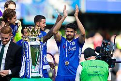 Diego Costa walks up to collect his winners medal as Chelsea celebrate winning the 2016/17 Premier League - Rogan Thomson/JMP - 21/05/2017 - FOOTBALL - Stamford Bridge - London, England - Chelsea v Sunderland - Premier League..