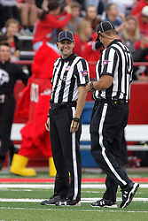 NORMAL, IL - September 08: Nick Brigati and Paul Janus during 107th Mid-America Classic college football game between the ISU (Illinois State University) Redbirds and the Eastern Illinois Panthers on September 08 2018 at Hancock Stadium in Normal, IL. (Photo by Alan Look)
