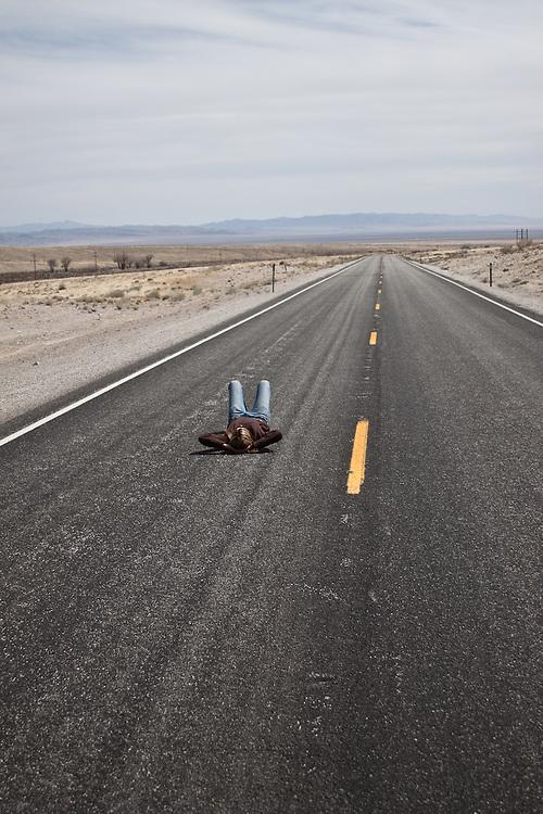 Kristin Snyder.  Highway 50.  Eastern Nevada.