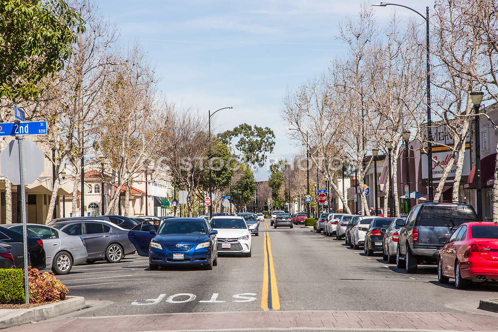 Downey Ave and 2nd Street Downey California
