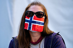 Norwegian mouth mask during the second day of the beach volleyball event King of the Court at Jaarbeursplein on September 10, 2020 in Utrecht.