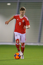 EDINBURGH, SCOTLAND - Tuesday, November 1, 2016: Wales' Daniel Griffiths in action against Scotland during the Under-16 2016 Victory Shield match at ORIAM. (Pic by David Rawcliffe/Propaganda)