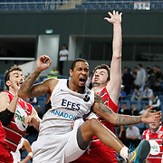 Efes Pilsen's Lawrence ROBERTS (C) during their Turkish Basketball Legague Play-Off qualifying second match Efes Pilsen between Pinar Karsiyaka at the Sinan Erdem Arena in Istanbul Turkey on Friday 13 May 2011. Photo by TURKPIX