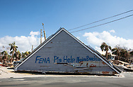 Roof of house on HWY 98 in Mexico Beach Florida following Hurricane Micahel.
