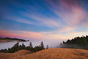 Sunset at Seaview Ridge, Fort Ross, California