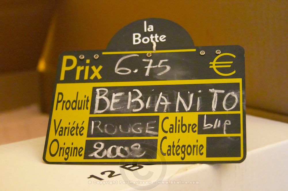 Bebianito Rouge red wine. Prieure de St Jean de Bebian. Pezenas region. Languedoc. The wine shop and tasting room. France. Europe.