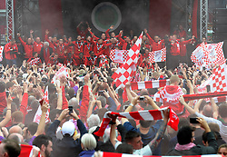 A general view of the Lloyds  Amphitheater during Bristol City's Celebration tour - Photo mandatory by-line: Dougie Allward/JMP - Mobile: 07966 386802 - 04/05/2015 - SPORT - Football - Bristol -  - Bristol City Celebration Tour