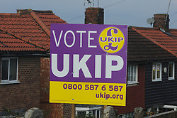 © Licensed to London News Pictures. 18/11/2014<br /> Rochester and Strood By-Election in Kent<br />  UKIP banners on the streets.<br /> <br /> (Byline:Grant Falvey/LNP)
