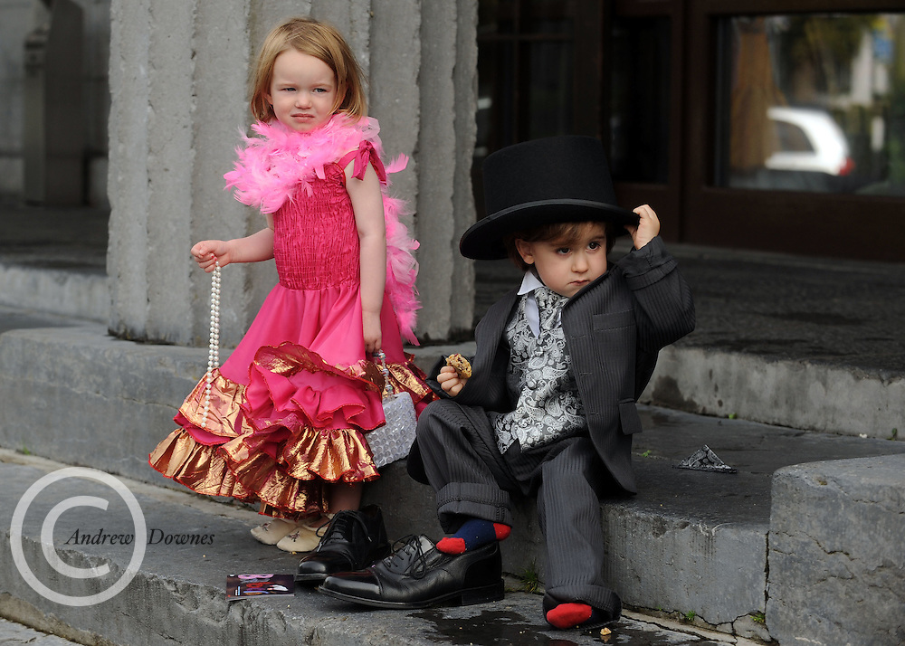 At the town hall Theatre in Galway was Maeya Cunninham and Harry Donnellan (son of Johnny, ex saw doc and Runner)  at the launch of Baboro International Festival for Children programme which will be held between the 12th and 18th of October. in GAlway. Photo:Andrew Downes