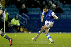 Sheffield Wednesday's Atdhe Nuhiu scores his side's second goal of the game