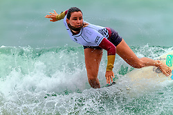 HUNTINGTON BEACH, CA - Johanne Defay surfs at the quarter finals during the 2014 Vans US Open of Surfing.  2014 Aug 2. Byline, credit, TV usage, web usage or linkback must read SILVEXPHOTO.COM. Failure to byline correctly will incur double the agreed fee. Tel: +1 714 504 6870.