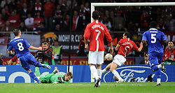 File photo dated 21-05-2008 of Chelsea's Frank Lampard scores during the UEFA Champions League Final at the Luzhniki Stadium, Moscow, Russia.