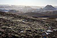 Looking east over Emstrur. Throngarbotnar, Svinatungur and Rjupnafell in background.<br /> <br /> Horft í austur yfir Emstrur, Þröngárkróka, Svínatungur og Rjúpnafell.