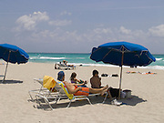 A nice day on the beach Miami Beach USA