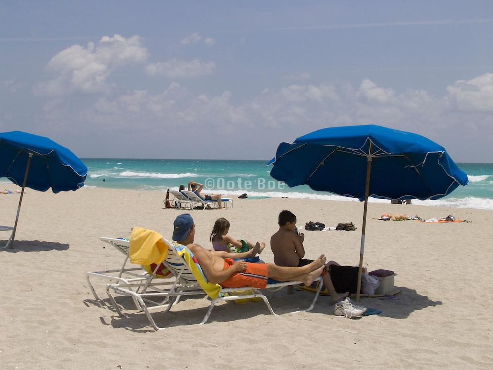 A nice day on the beach Miami Beach USA