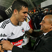 Sivasspor's coach Roberto Carlos (R) during their Turkish superleague soccer match Besiktas between Sivasspor at Osmanli Stadium in Istanbul Turkey on Sunday 19 October 2014. Photo by Kurtulus YILMAZ/TURKPIX
