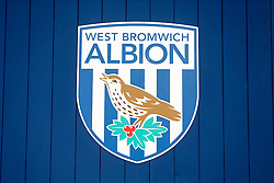 A West Brom club crest outside the ground - Photo mandatory by-line: Rogan Thomson/JMP - 07966 386802 - 26/08/2014 - SPORT - FOOTBALL - The Hawthorns, West Bromwich - West Bromwich Albion v Oxford United - Capital One Cup Round 2.