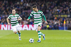 December 5, 2017 - Barcelona, Catalonia, Spain - Sporting CP midfielder Bruno Fernandes (8) during the match between FC Barcelona - Sporting CP, for the group stage, round 6 of the Champions League, held at Camp Nou Stadium on 5th December 2017 in Barcelona, Spain. (Credit Image: © NurPhoto via ZUMA Press)