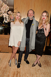 Left to right, GRETA BELLAMACINA, BENNY BELLAMACINA and COSIMA BELLAMACINA at the Louis Vuitton for Unicef Event #MAKEAPROMISE held at The Apartment, 17-20 New Bond Street, London on 14th January 2016.