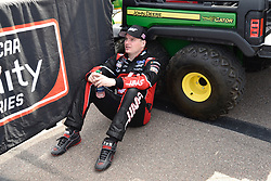 March 9, 2019 - Phoenix, Arizona, U.S. - PHOENIX, AZ - MARCH 09:  Cole Custer (00) Haas Automation Ford relaxing on pit lane prior to start of the  NASCAR Xfinity iK9 Service Dog 200 race on March 09, 2019 at ISM Raceway in Phoenix, AZ.  (Photo by Lyle Setter/Icon Sportswire) (Credit Image: © Lyle Setter/Icon SMI via ZUMA Press)