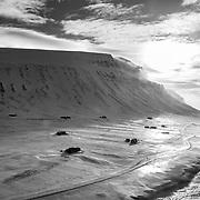Vestpynten, Spitsbergen on approach to Longyeabyen