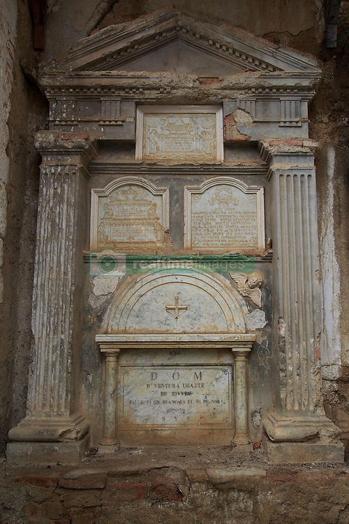 May 3, 2019 - Concepcion, Junin, Peru - Niches of the cemetery of the Ocopa Convent. The Monastery of Santa Rosa de Ocopa was founded in 1725 as a starting point for the evangelization of the Peruvian Amazon. (Credit Image: © Carlos Garcia Granthon/ZUMA Wire)