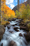 River Flowing over Rocks in the Eastern Sierra's of California