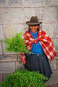 Quechua woman, San Pedro Market, Cusco, Urubamba Province, Peru